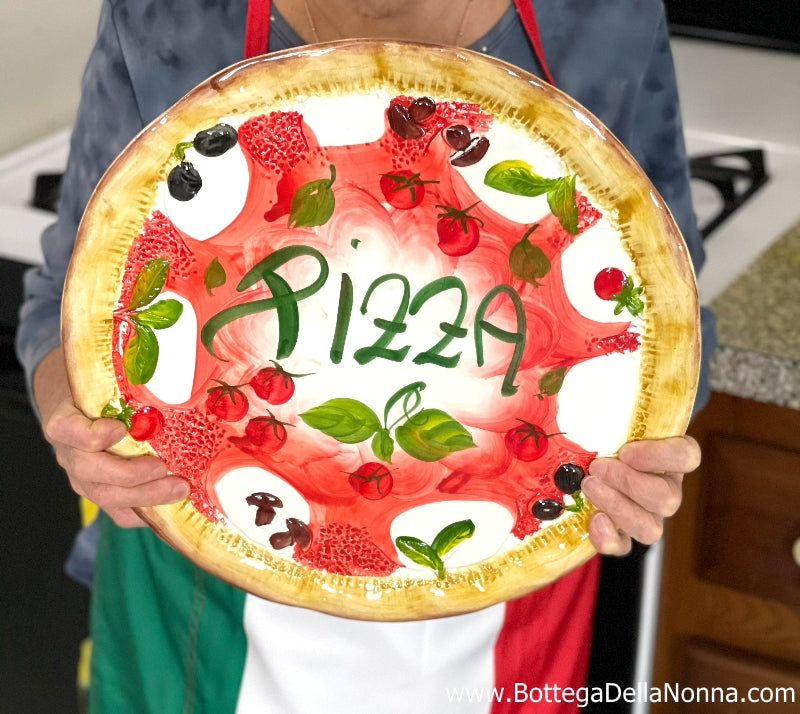 The Positano Personal Pizza Plate