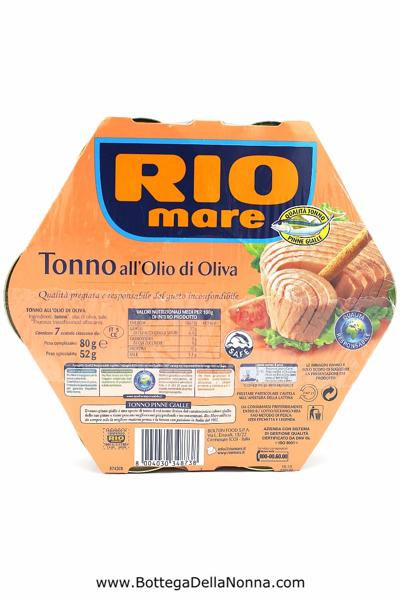 Rio Mare - Tuna in Olive Oil - 7 x 80Gr