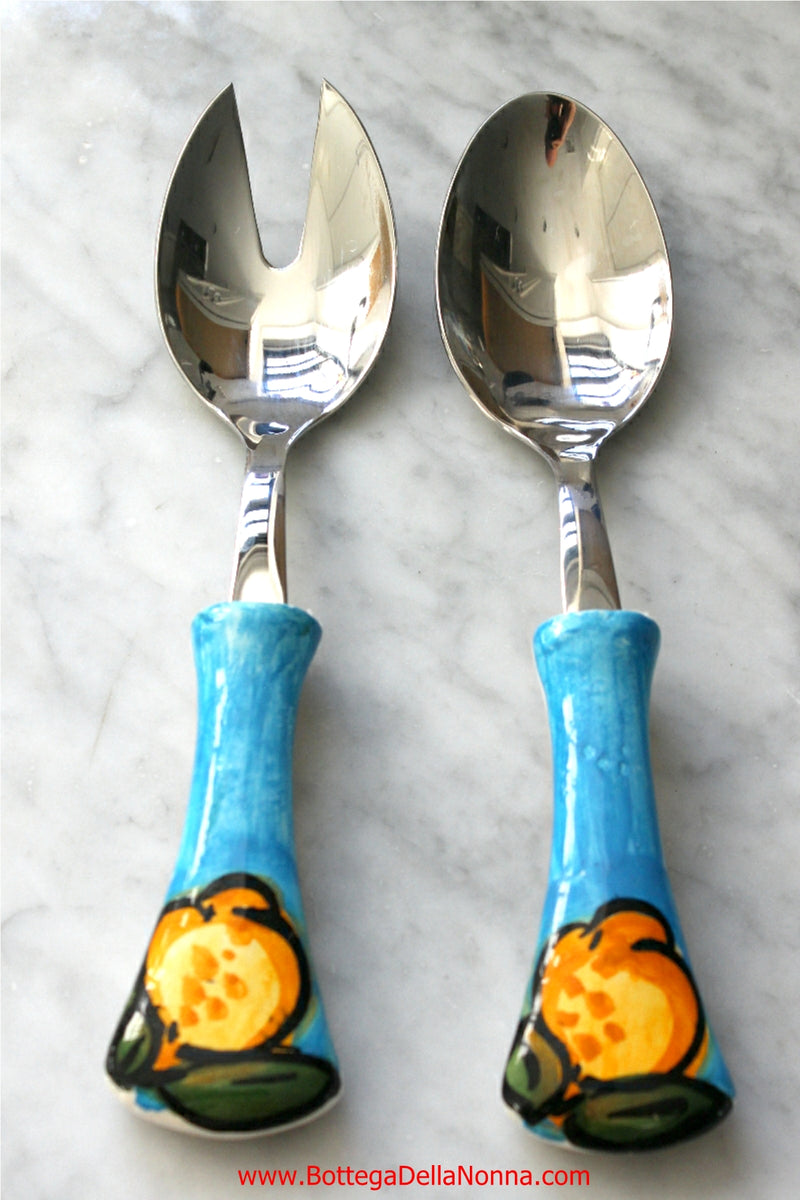 The Positano Salad Spoon and Fork Set
