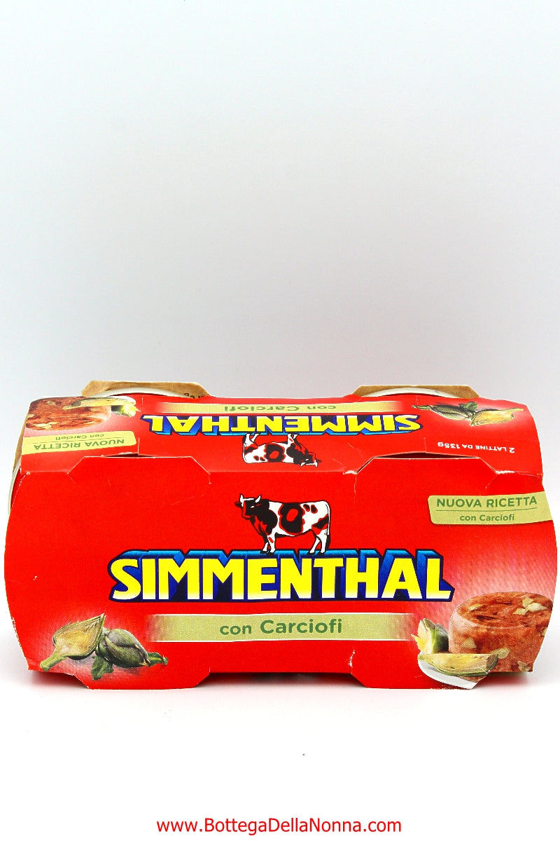 Simmenthal Canned Meat with Artichokes - 2 x 135Gr