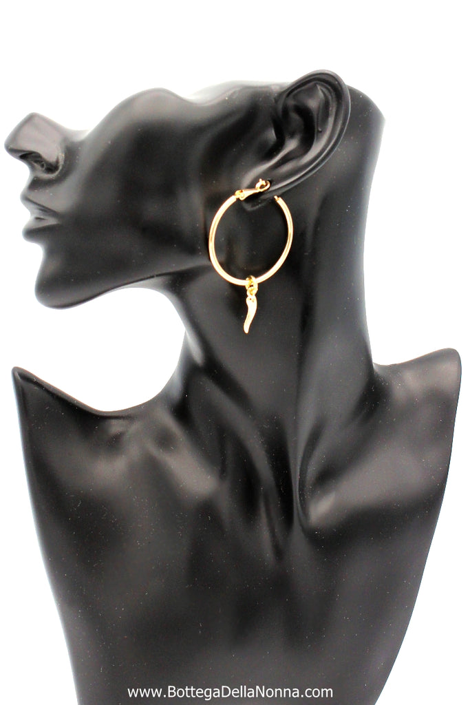 The Cornicello Oro Earrings - Small - Yellow Gold