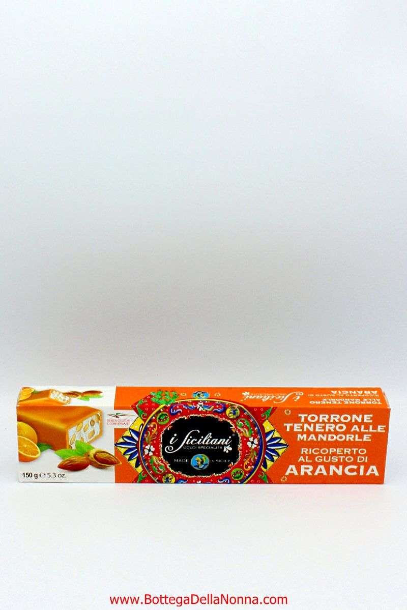 Soft Torrone - Almonds & Orange Flavor