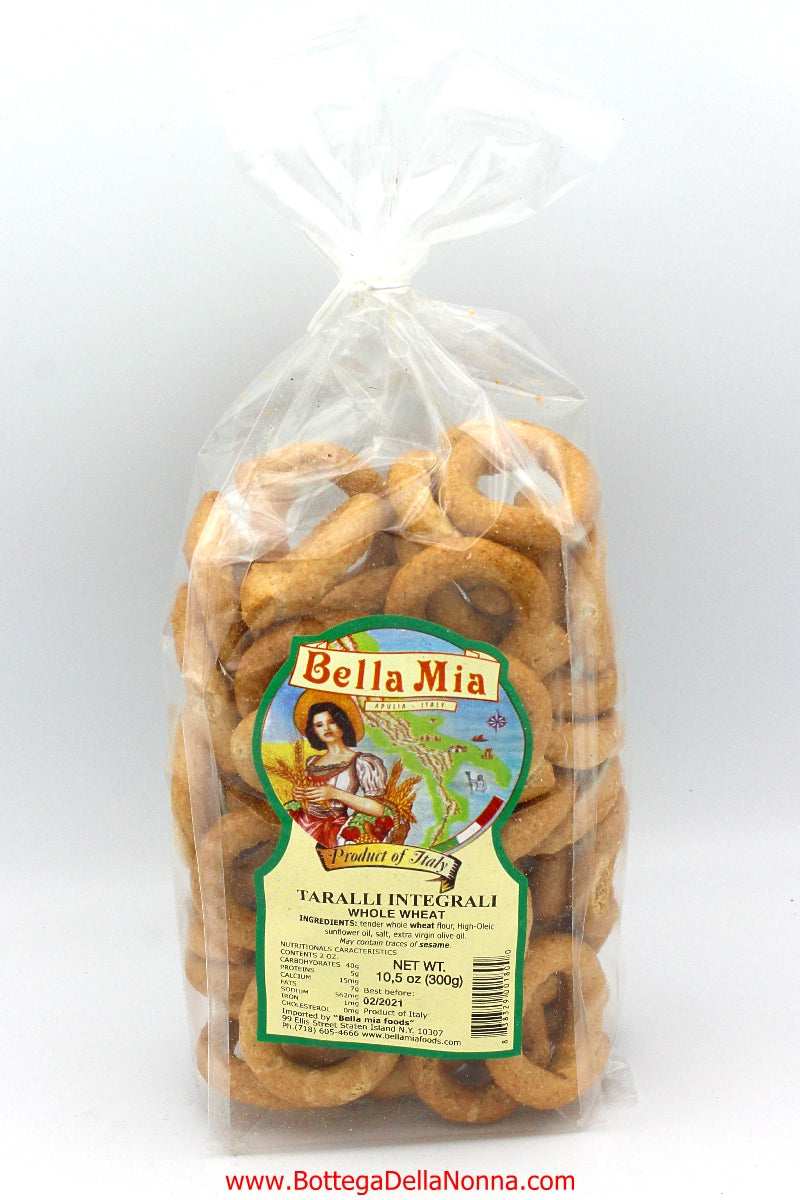 Whole Wheat Taralli from Puglia - Bella Mia