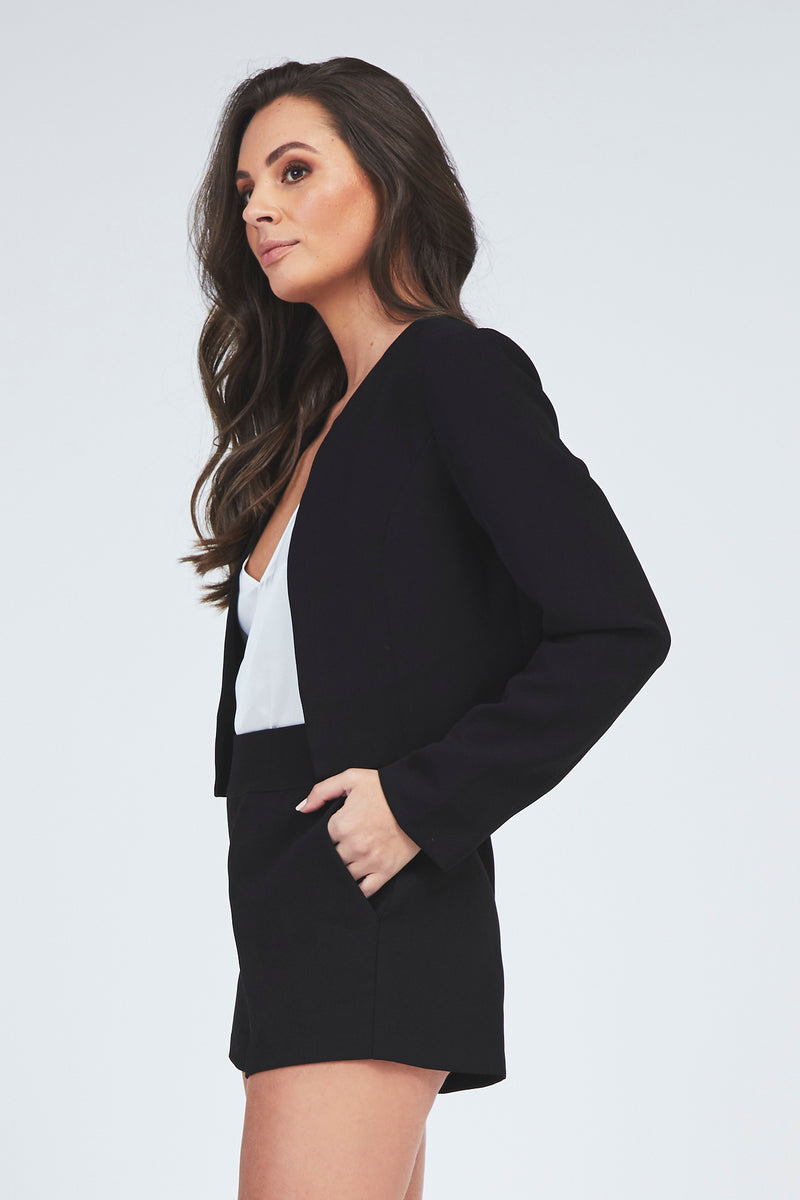Isa Crop Jacket - Black