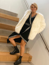 Faux Fur Coat - White