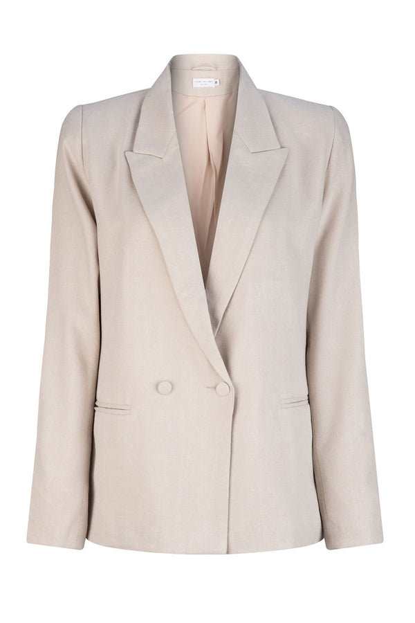 Marilyn Knit Blazer - Beige