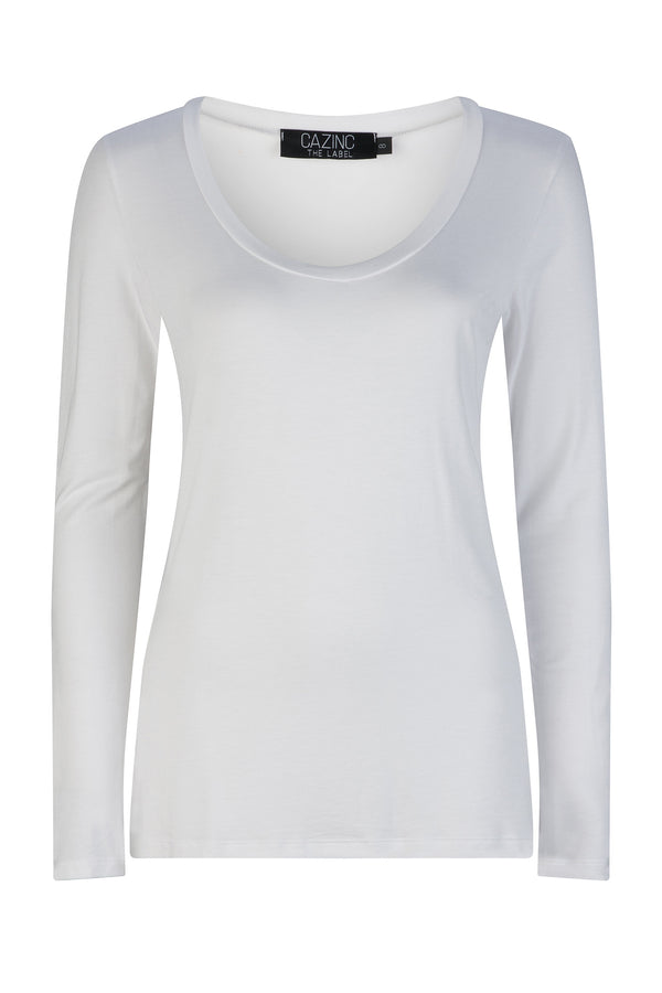 Bamboo Long Sleeve Tee - White