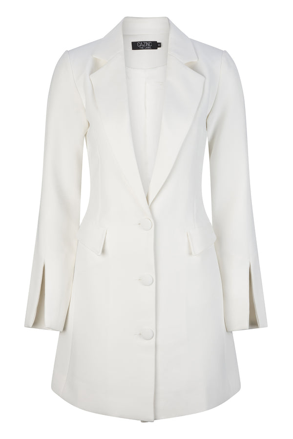 Abigail Blazer Dress - White