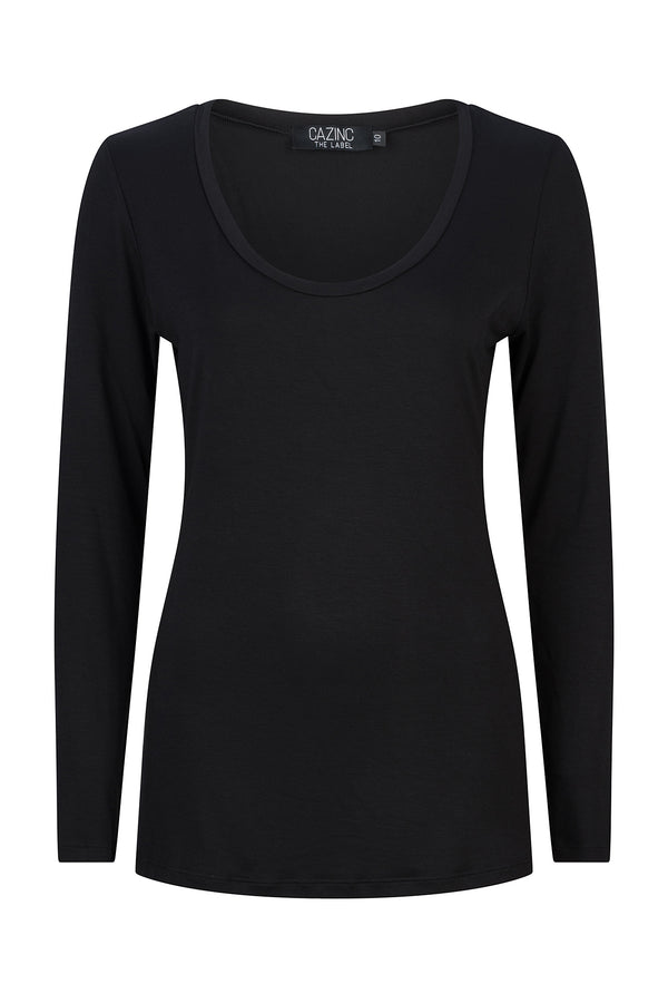 Bamboo Long Sleeve Tee - Black
