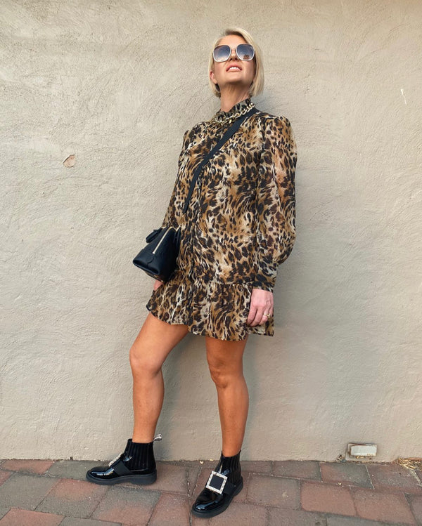 Mila Dress/Top - Leopard Print