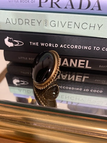 Large Statement Rings - Black Gold