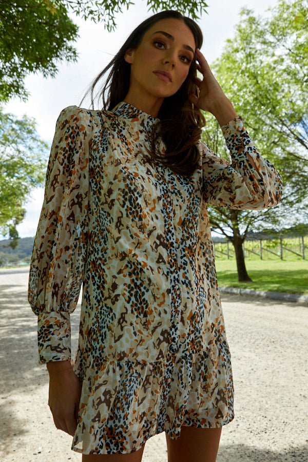 Mila Dress/Top - Safari Print