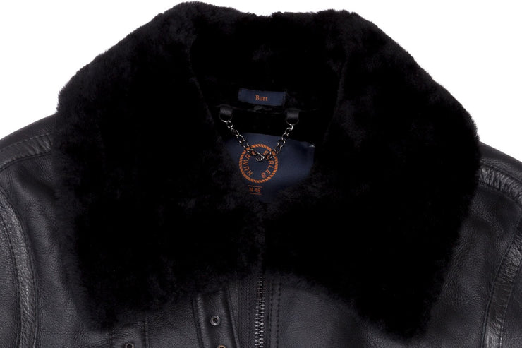 Burt Black Shearling