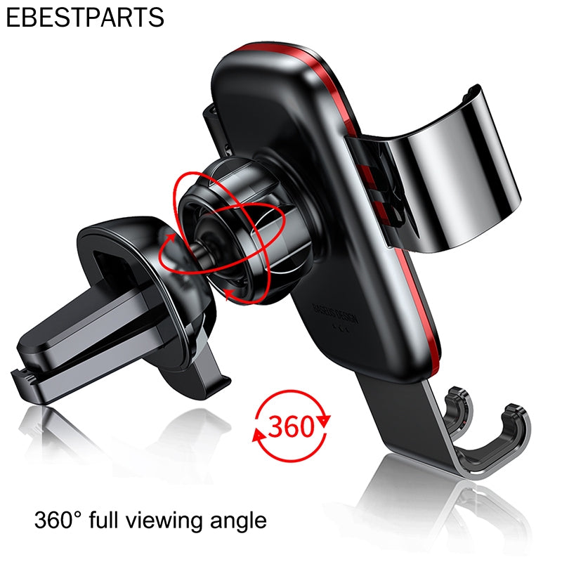 Baseus For iPhone Samsung Huawei Car Air Vent Mount Holder Metal Gravity Mobile Phone Holder Universal Car Phone Holder