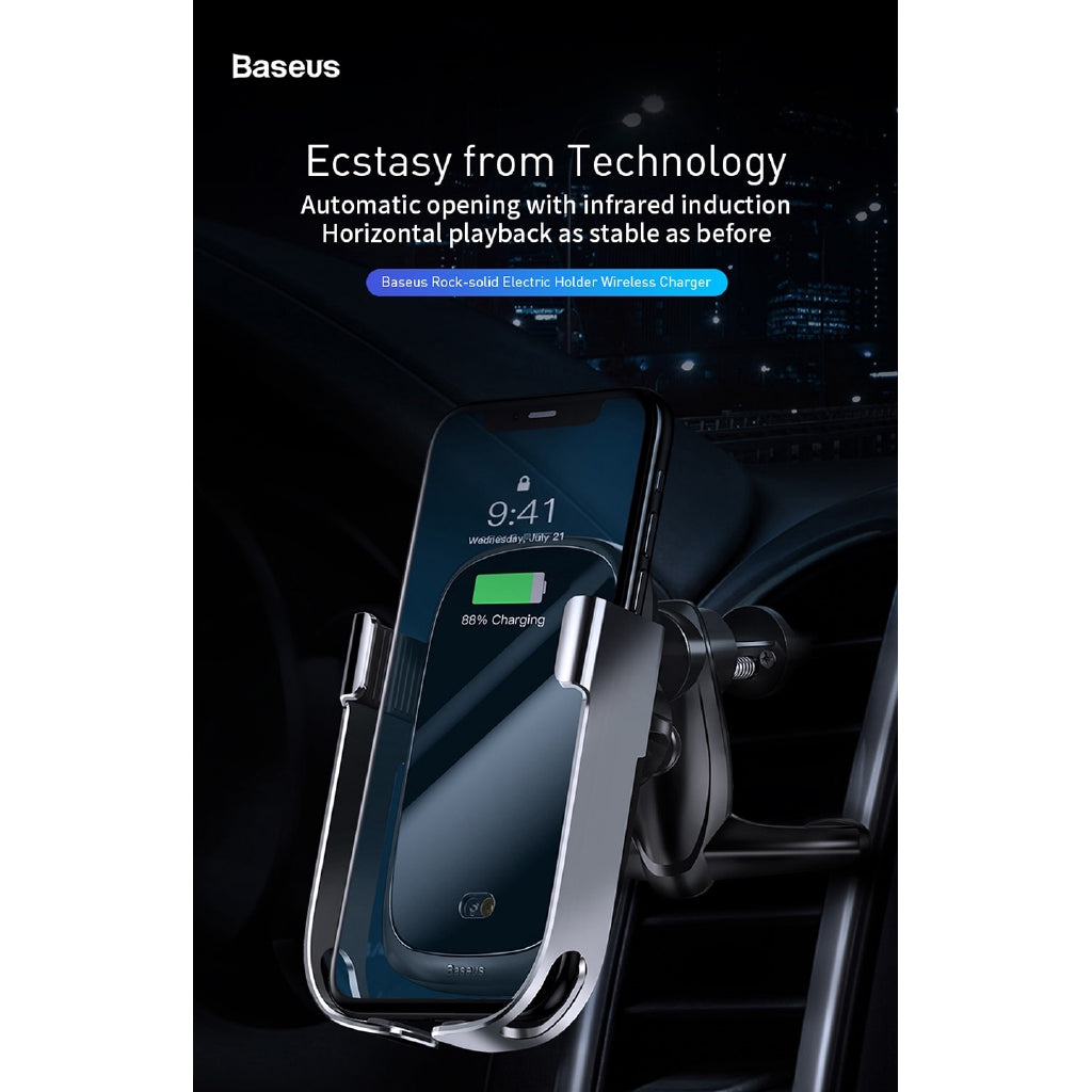 [In Stock]Baseus For iPhone Car Wireless Charger Intelligent Infrared Fast Wireless Charging 10W Qi Wireless Car Charger