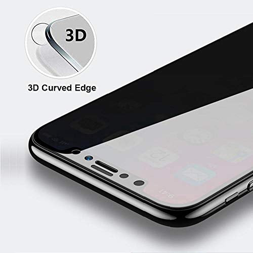 Privacy Compatible iPhone XsMax Xs XR X 8 7 6 6S iPhone 8plus 7plus  Full Coverage 3D Tempered Glass Screen Protector