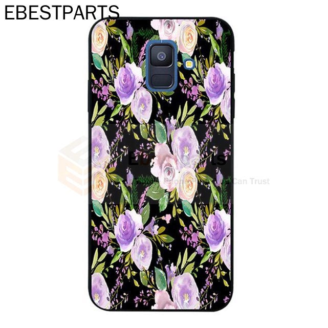 【EBP】For Samsung J2 Note 3 4 5 8 9 A5 A6 A8 A9 Star Pro Plus 2018 Purple flower Silicon Case