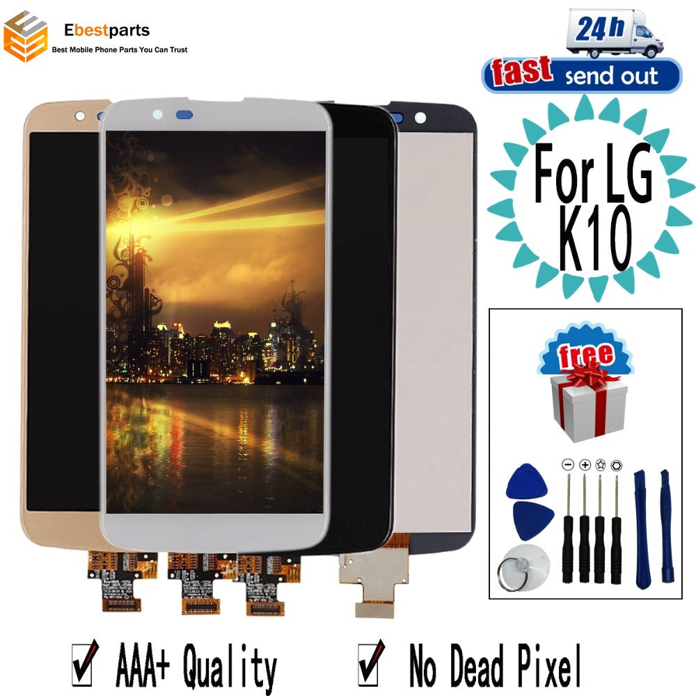 "5.3"" K10 For LG K10 TV LCD Display K420 TV K430 K430DS K410 Touch Screen Digitizer Assembly Replacement For LG K10TV"
