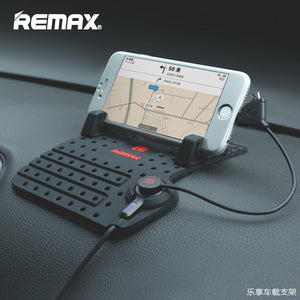 Remax Mobile Phone Car Holder With Magnetic Charger USB Cable For iPhone 7 7plus Android xiaomi Phone Adjustable Bracket