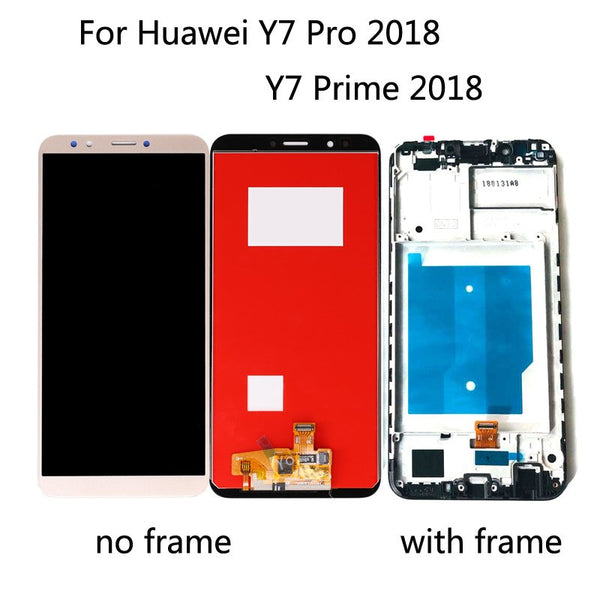 For HUAWEI Y7 Pro 2018 / Y7 Prime 2018 LCD display + Touch Screen Digitizer assembly with Frame Black white gold - Ebestparts Official Store