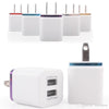 2017 Hot 1A 2.1A Dual USB Port US Plug Home Travel Wall Charger Power Adapter For iPad iphone 6S 7 Plus Smartphone car charger