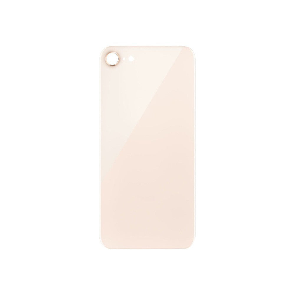 for iPhone 8 8 Plus With Apple Logo Back Glass and Rear Camera Lens Set