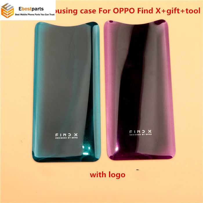 H-shirley 100% tested back cover housing case For OPPO Find X  Glass rear shell For OPPO Find  X  parts Replacement