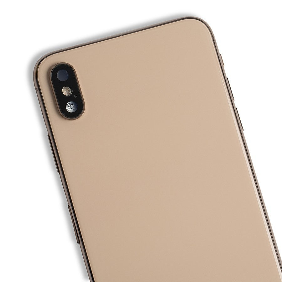 【EBESTPARTS】Back Housing with Small Parts for iPhone XS Max with Logo + Side keys + Rear camera lens with frame