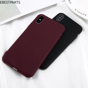 Ebestparts iPhone X XS Max XR Ultra Thin Shockproof Matte Rubber Soft Silicone Case Cover Hot