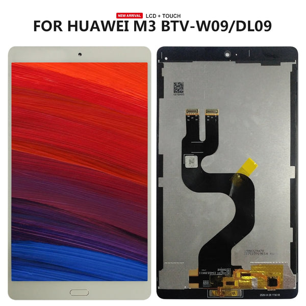 8.4 inch For Huawei MediaPad M3 BTV-W09 BTV-DL09 lcd display screen with touch screen digitizer assembly BLACK FLEX CABLE - Ebestparts Official Store