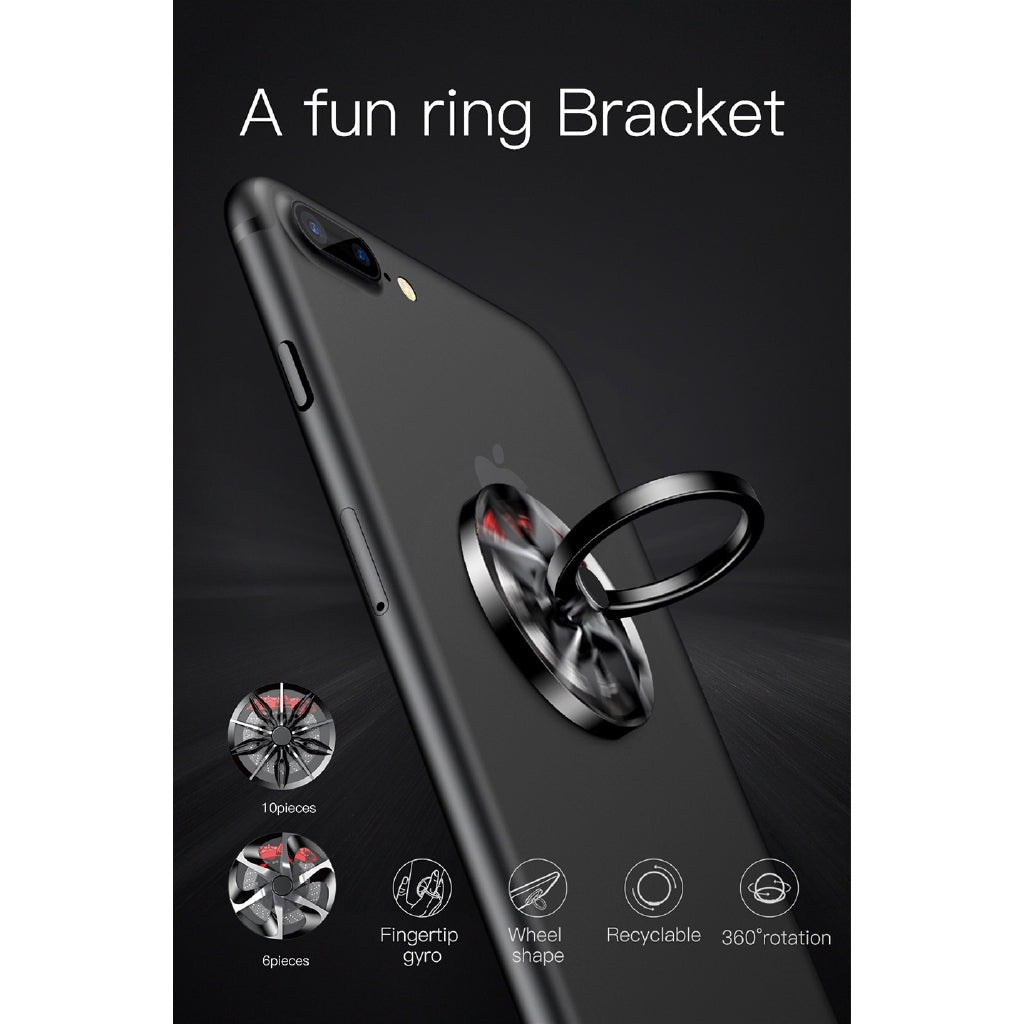 Baseus For iPhone Samsung Phone Ring Holder GyroFinger Ring Holder Hand Spinner Rotary Rotation Metal Mobile Phone Stand