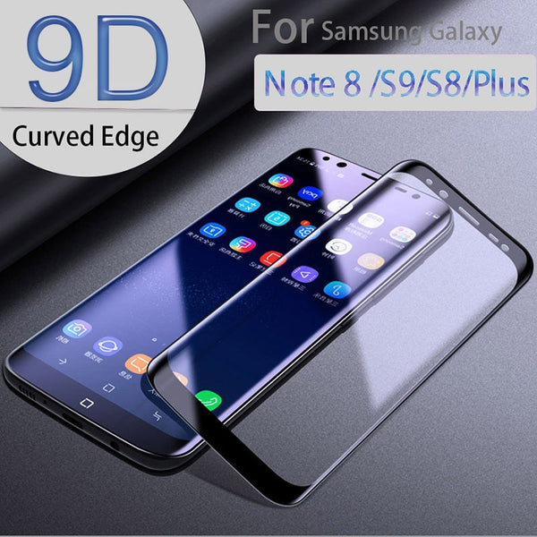 9D Tempered Glass For Samsung Galaxy Note 9 8 Glass S8 s9 Plus A6 A8 Plus A9 Star Lite Screen Protector Glass Full Cover Film - Ebestparts Official Store