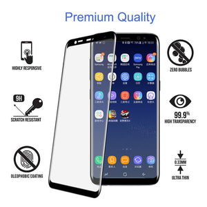 9D Tempered Glass For Samsung Galaxy Note 9 8 Glass S8 s9 Plus A6 A8 Plus A9 Star Lite Screen Protector Glass Full Cover Film