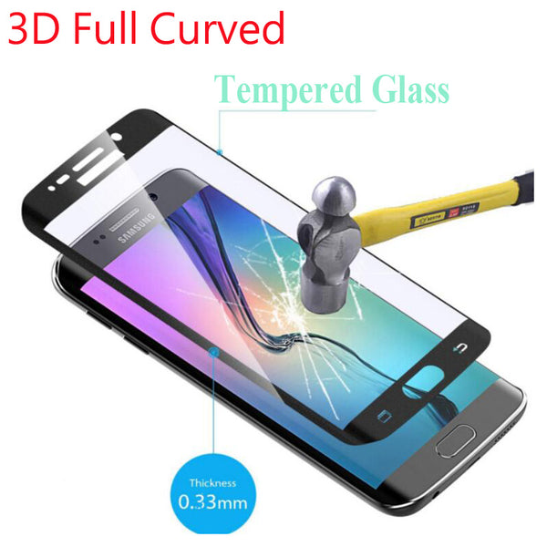 9H Full Cover 3D Curved Tempered Glass For Samsung Galaxy S6 Edge S6 Edge Plus S7 S8 S9 Plus Note 8 Screen Protector Color Film - Ebestparts Official Store