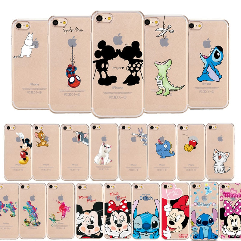 Cartoon Mickey Minnie Mouse Soft Silicone Phone Case For Apple iPhone 6 6s 6Plus 5 5s Se 8 X Xs Max XR for iPhone 7 Cases Coque