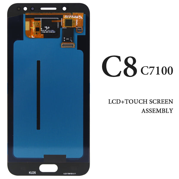 For Samsung Galaxy C8 LCD Display C7100 C710F C710DS C7 2017 Black White Gold AMOLED Screen Digitizer Assembly Replacement Part - Ebestparts Official Store