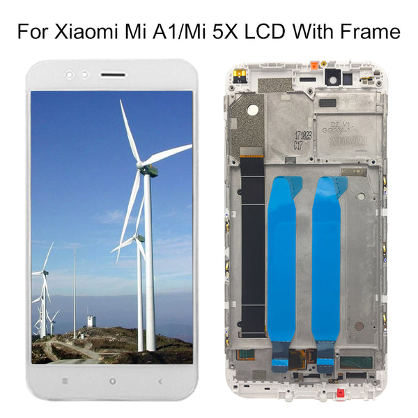 "For XiaoMi Mi A1 LCD Display+Touch Screen+Frame Assembly Repair Part 5.5"" Cell Phone Accessories For XiaoMi Mi A1 LCD - Ebestparts Official Store"