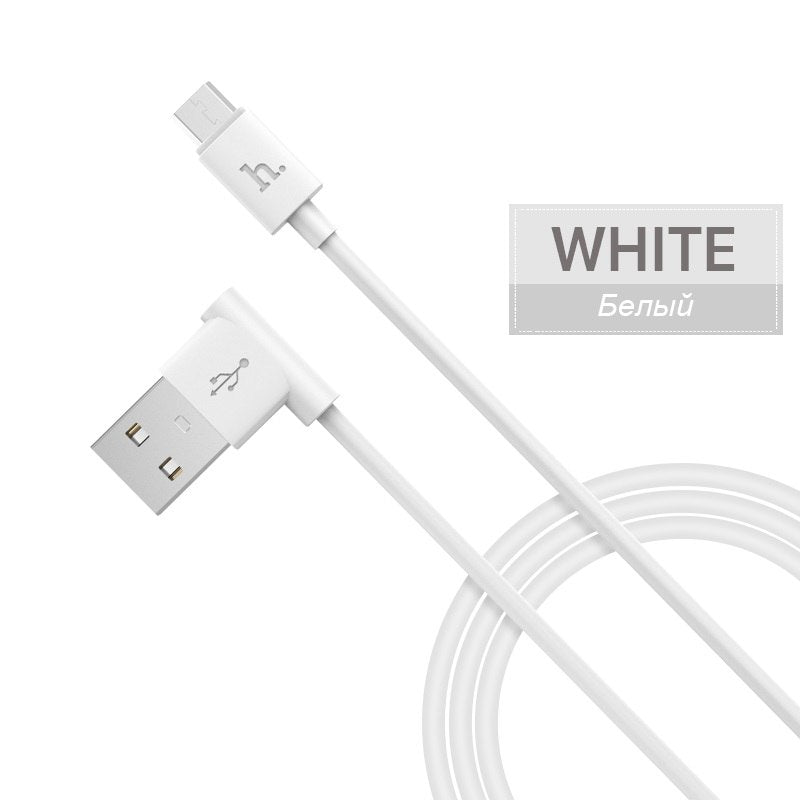 HOCO 90 Degrees Micro-USB Original Charging Data Cable USB Charger Wire Transfer Sync Mobile Phones Charger For Xiaomi Samsung