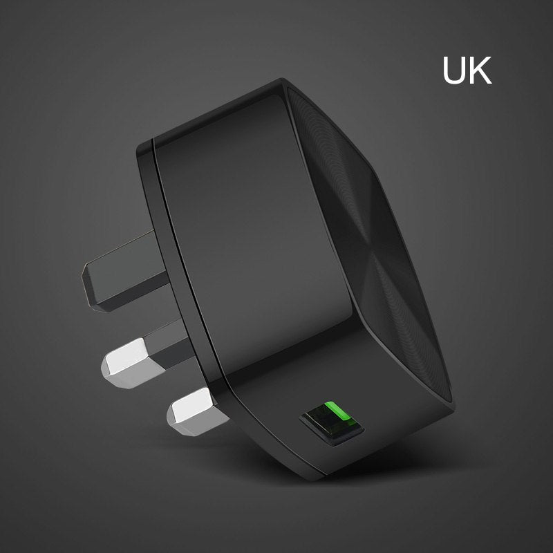 HOCO QC3.0 Quick Charge Universal USB Wall Charger EU US UK Plugs Portable for iPhone X 8 Samsung Xiaomi Huawei Charging Adapter