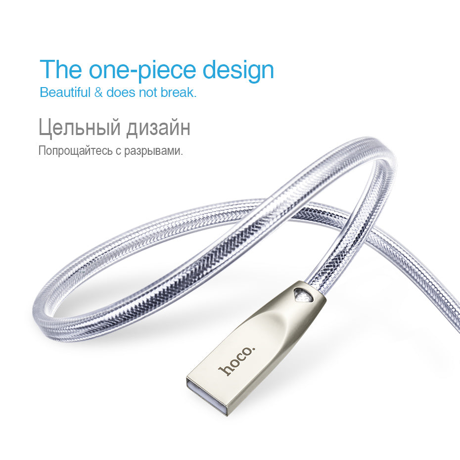 HOCO Zinc Alloy Jelly Knitted Micro-USB to USB Charging Data Cable for Samsung LG Sony HTC Xiaomi Charger Wire Android Phones