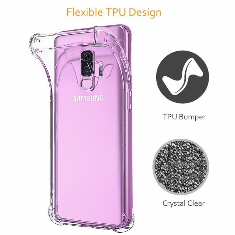 Crystal Clear Soft TPU Bumper Slim Protective Case Cover For Samsung Galaxy S9 S8 S7 S6 Edge Plus A5 A7 J5 2017 Coque
