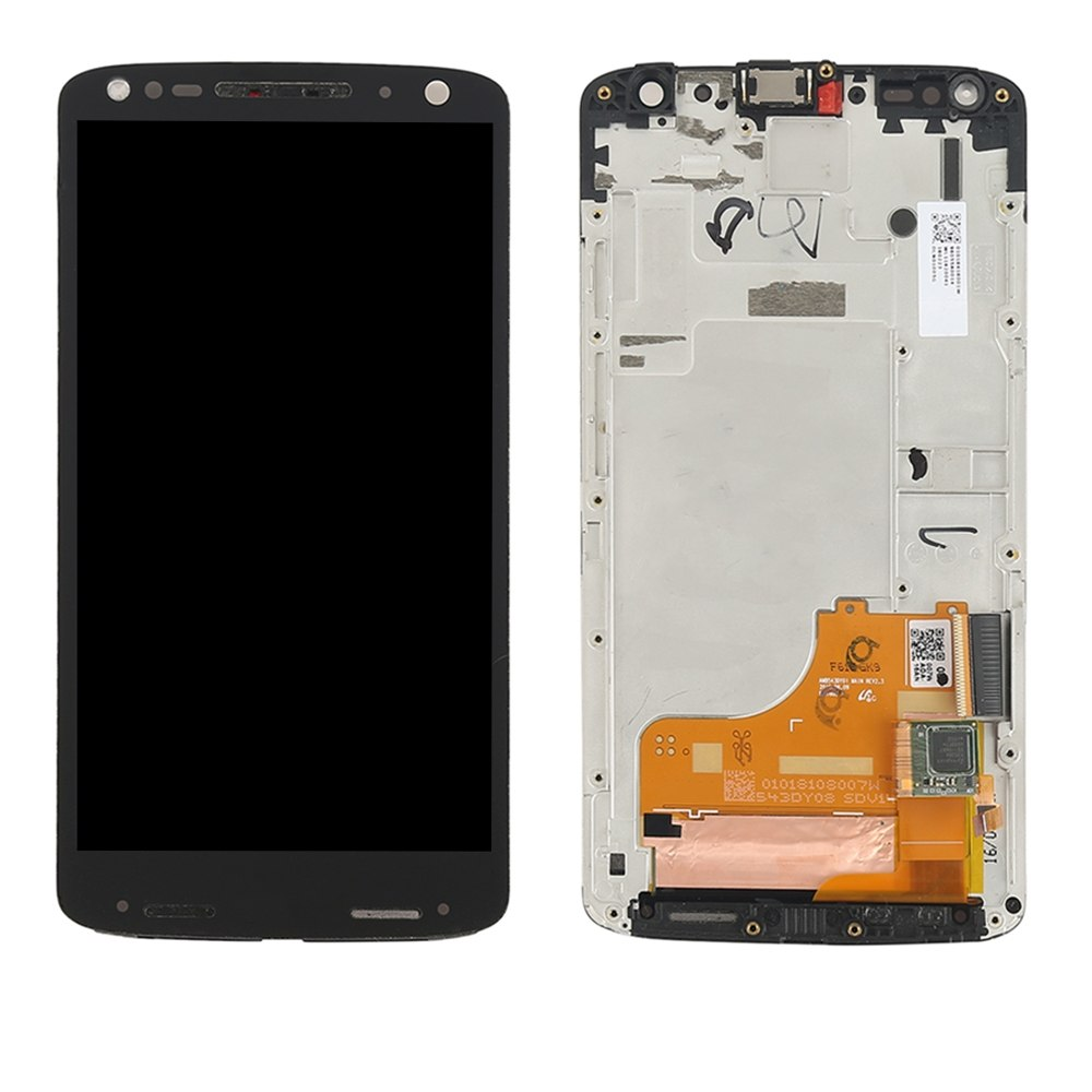 LCD Screen and Digitizer Full Assembly with Frame for Motorola Moto X Force XT1581 / Droid Turbo 2 XT1585