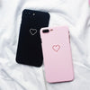 Love Heart Painted Graphic Case For iPhone XS XR XS Max X 5 5S 6 6S 7 8 Plus Couples Back Cover Ultra Thin Matte Hard PC