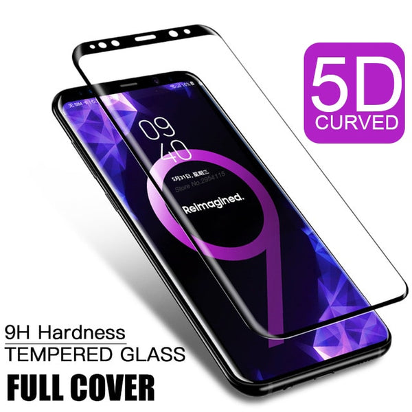 5D Curved Tempered Glass Screen Protector For Samsung Galaxy S9 S8 S7 S6 edge plus S 9 8 7 6 + Cover Protective Film - Ebestparts Official Store