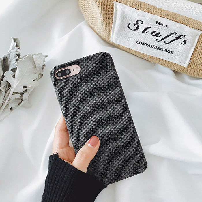 Cloth Texture Soft TPU case For iphone 7 Case Ultra-thin Canvas Silicone Phone Cases For iphone 6 6S 7 8 Plus X Xs Max