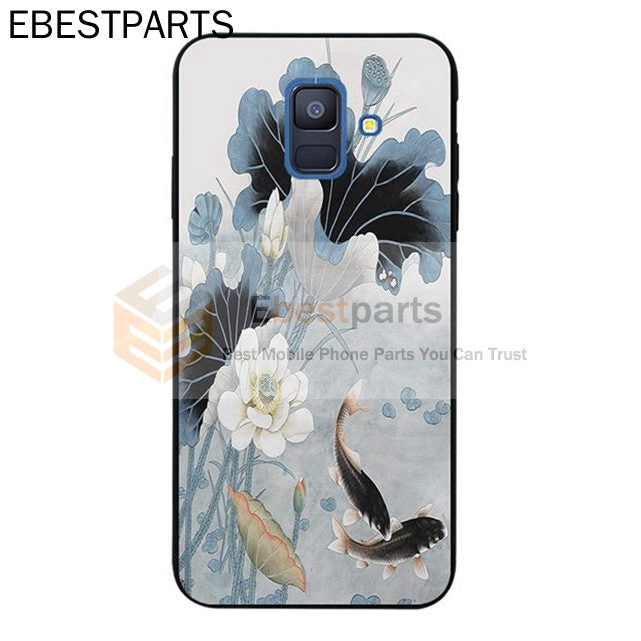 【EBP】 Samsung J2 Note 3 4 5 8 9 A5 A6 A8 A9 Star Pro Plus 2018 Lotus Flower Silicon Case 【Ready Stock】