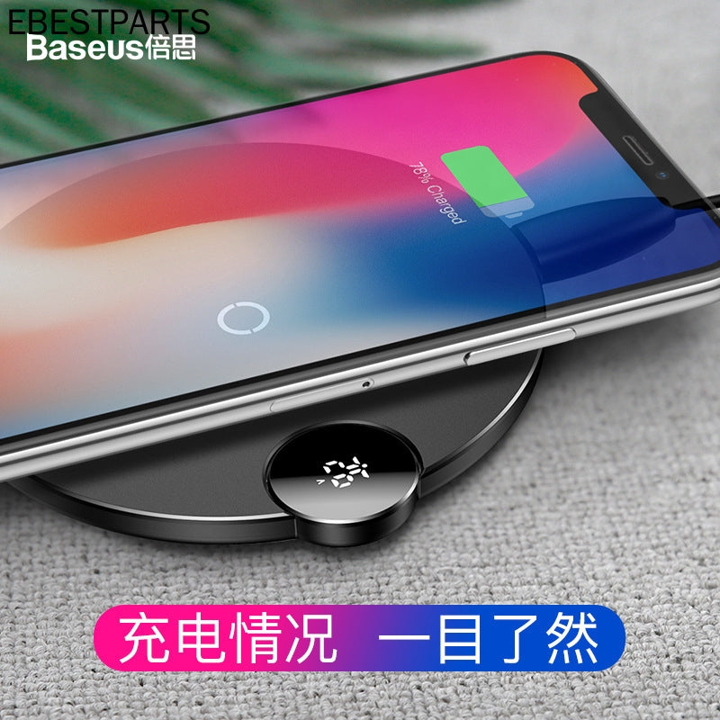 Baseus USB Qi Charging Pad for iPhone XS Max XR X 8 Fast Wireless Charger For Samsung Galaxy S9/S9+ S8 S7 Note 9 S7 Edge