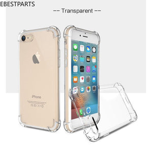Ebestparts Clear Hybrid Slim Anti-Shock Soft TPU Armor Case Cover For iphone X XS 6s 7 8 Plus Hot
