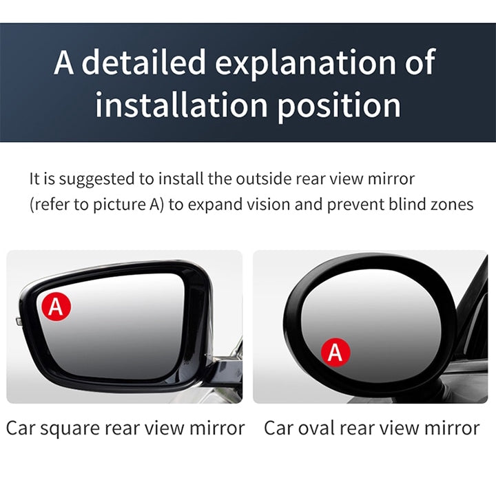 Baseus Mirror Wide Angle Vehicle Parking Rimless Mirrors Car 360 Degree HD Blind Spot Convex Mirror Auto Rearview