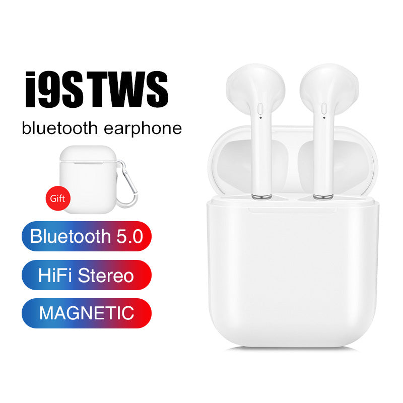 New I9S TWS Bluetooth 5.0 Wireless Earphones Headsets Earbuds With Charge Box